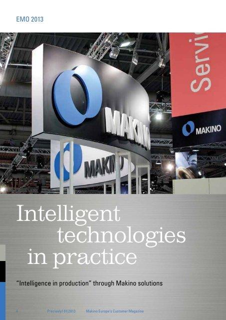 Intelligent technologies in practice - Makino Europe