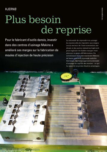 Plus besoin de reprise - Makino Europe