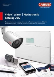 Video | Alarm | Mechatronik Katalog 2012 - Alarmanlagen