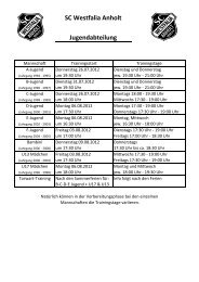 Planung 2012-2013 - SC Westfalia Anholt