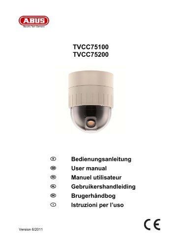 TVCC75100 TVCC75200 Istruzioni per l'uso - Abus