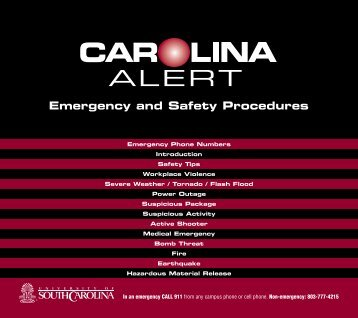 Emergency and Safety Procedures - University of South Carolina