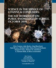 science in the service of citizens & consumers - University of South ...