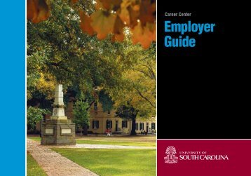 Career Center Employer Guide - University of South Carolina