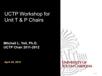 on Maximizing the Success of T&P Files from Your Unit (April 2012