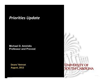 Priorities Update Presentation