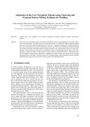 Adaptation of the User Navigation Scheme using Clustering and ...