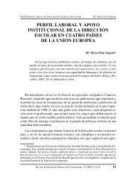 perfil laboral y apoyo institucional de la dirección escolar en cuatro ...