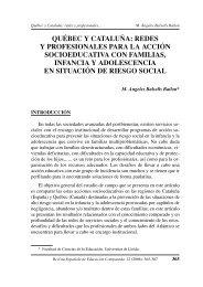QUÉBEC Y CATALUÑA: REDES Y PROFESIONALES PARA LA ...