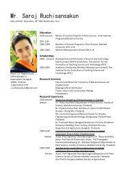 Mr. Saroj Ruchisansakun - Mahidol University