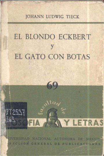 69_J_L_Tieck_El_blondo_Eckbert_El_gato_con_botas_1965