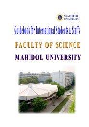 Guidebook for International Students & Staffs - Mahidol University