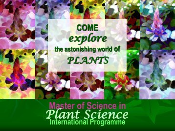 Plant Science - Mahidol University