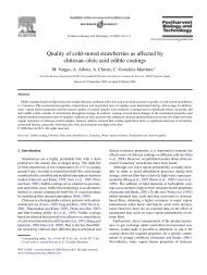 Quality of cold-stored strawberries as affected by chitosan–oleic acid ...