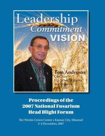 fusarium graminearum - U.S. Wheat and Barley Scab Initiative