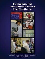 Proceedings of the 2009 National Fusarium Head Blight Forum - U.S ...