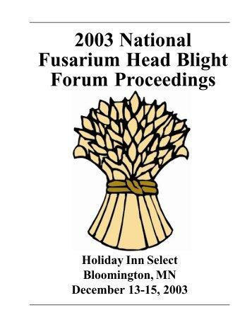 2003 National Fusarium Head Blight Forum Proceedings - U.S. Wheat ...