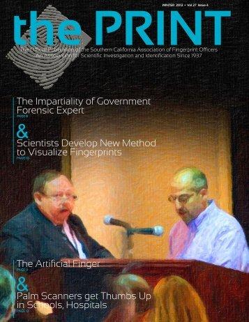 Winter 2012 - Southern California Association of Fingerprint Officers