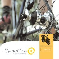 BEDIENUNGSHANDBUCH - CycleOps