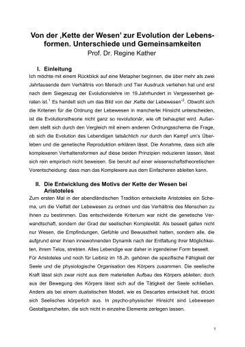 Kette der Wesen' zur Evolution der - Forum Grenzfragen