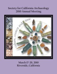 Society for California Archaeology 2010 Annual Meeting
