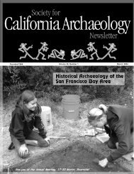 March 2004 - Society for California Archaeology