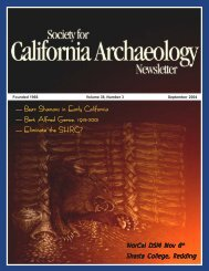 Sept. 2004 - Society for California Archaeology