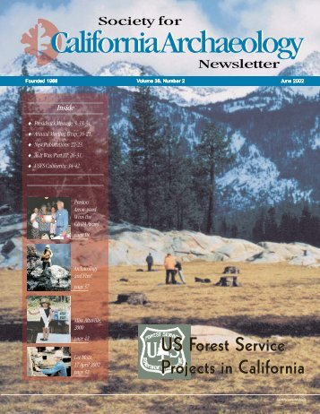 June 2002 - Society for California Archaeology