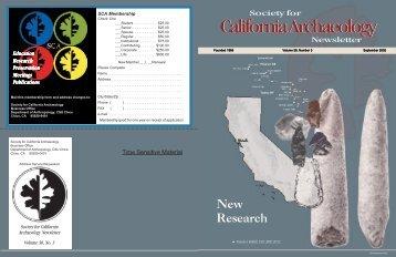 Sept. 2002 - Society for California Archaeology