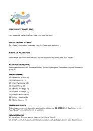 NIEUWSBRIEF MAART 2013 Hier alweer de nieuwsbrief ... - Scala