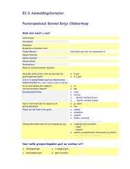 Aanmeldingsformulier Peuterspeelzaal - Scala