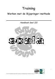 handboek III Training - Scala-Welzijn