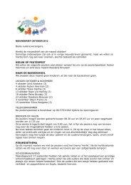 NIEUWSBRIEF OKTOBER 2012 Beste ouders ... - Scala-Welzijn