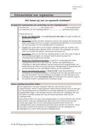 Informatieblad voor organisaties - Scala