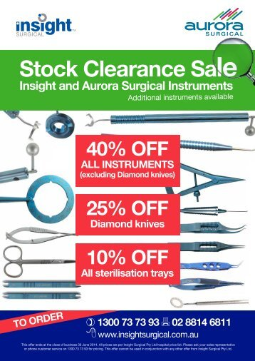 Stock Clearance Sale 2014