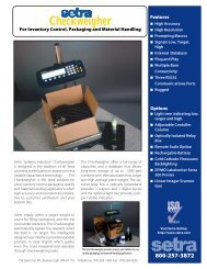 Click here for the Checkweigher data sheet in PDF format - Setra