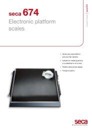 seca 674 Electronic platform scales - Scalesonline