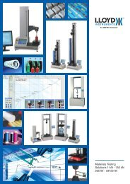 Lloyd Instruments Material Testing Brochure - C.S.C. Force ...