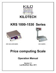 KILOTECH KRS 1000-1530 Series Price computing Scale