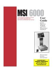 MSI-6000 Check-Weigh - Measurement Systems International