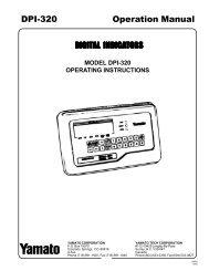 DPI-320 Operation Manual - Yamato Corporation