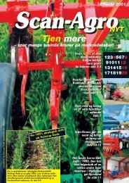 Efterår 2001 - Scan-Agro