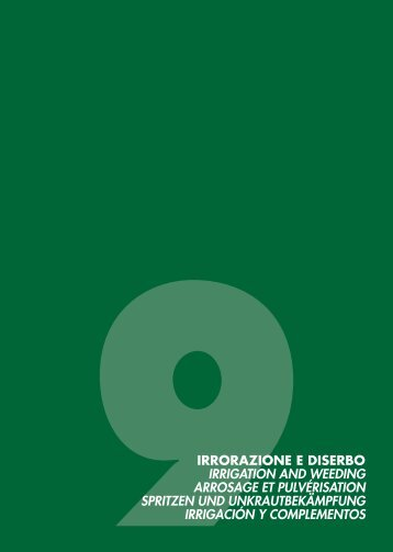 9irrorazione e diserbo irrigation and weeding arrosage ... - Scan-Agro