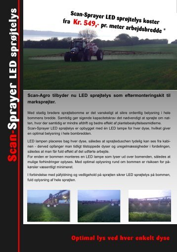 2011 Scan-Sprayer LED Sproejtelys - Scan-Agro