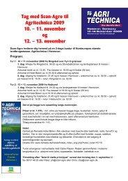 Tag med Scan-Agro til Agritechnica 2009 10. – 11. november og 12 ...