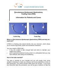 Percutaneous Endoscopic Gastrostomy Feeding Tube (PEG ... - SCAN
