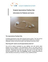 Surgical Jejunostomy Feeding Tube Information for Patients ... - SCAN