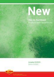 New Neu im Sortiment - Scana Lebensmittel AG