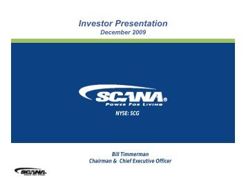 Investor Presentation - SCANA Corporation