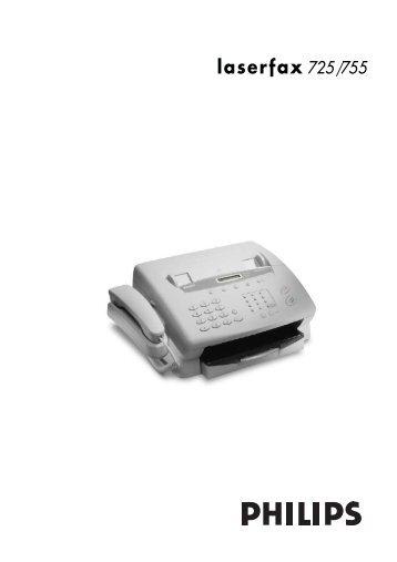 BDA Philips Laserfax 725/755 deutsch - Fax-Anleitung.de